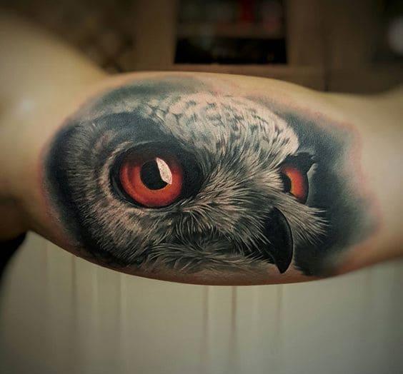 mẫu tattoo hình chim địa bàng đẹp ở bắp tay trong