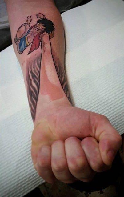 mẫu tattoo hình luffy ngầu đẹp