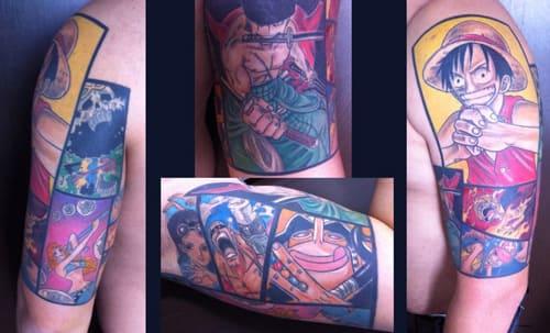 tattoo one piece ở trên tay