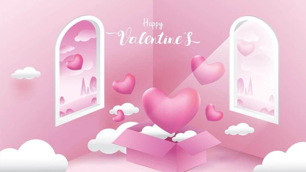 Căn phòng valentine cực đáng yeu với màu hồng dễ thương