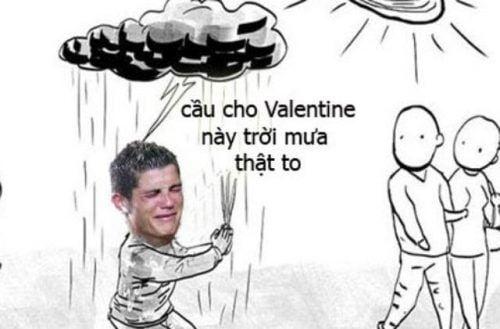 Câu cho mua to gió lơn ngày valentine