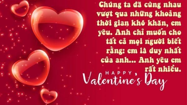Câu chúc mừng tặng người yêu trên thiệp valentine