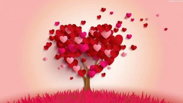 Cây trái tim cực đẹp chúc mừng ngày lễ tình nhân