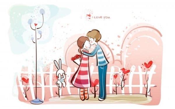 Hình cặp đôi thể hiện tình cảm ngọt ngào cho ngày valentine