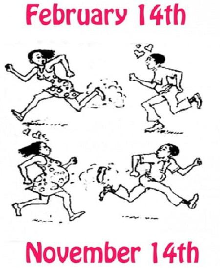 Hình chế hài hước về ngày valentine cười té xỉu