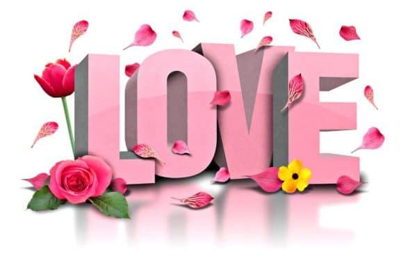 Hình chữ love chúc mừng ngày lễ tình nhân
