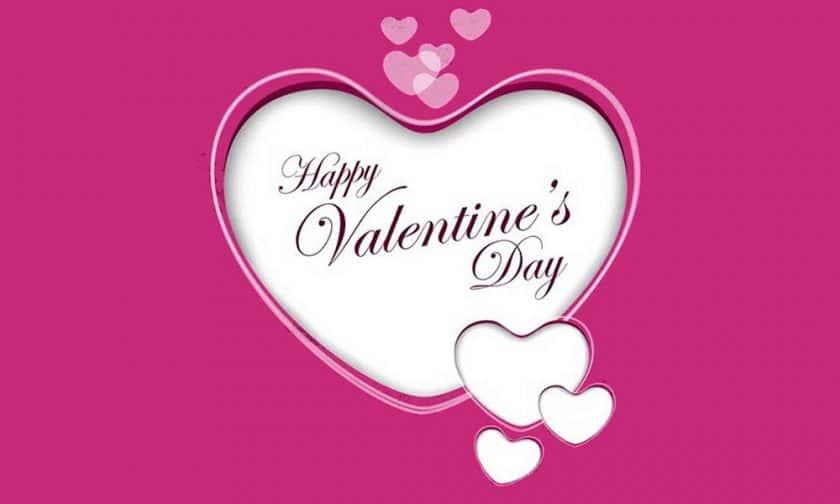 Hình happy valentine day màu tím với trái tim tím biểu tượng chung thủy