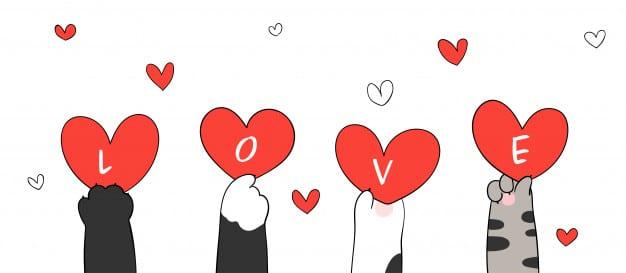 Hình nền chữ love đưa lên cực cute