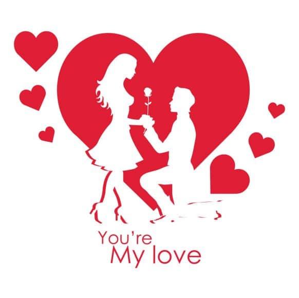 Hình tặng hoa cho người yêu cực lãng mạng nhân ngày valentine