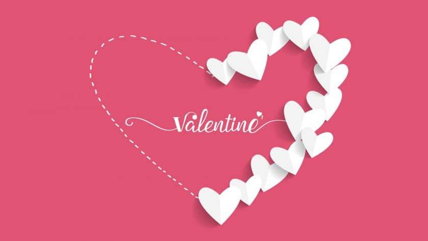 Hình xếp trái tim cực dễ thương cho ngày valentine ý nghĩa