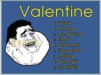 Lịch trình ngày valentine thật bận rộn