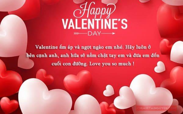 Lời chúc valentine đến người yêu cực dễ thương