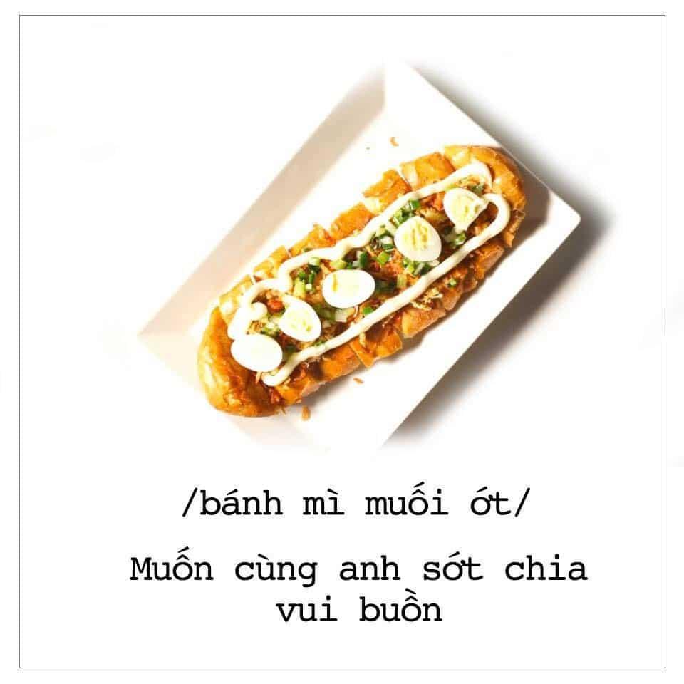Món Bánh Mì Muối Ớt