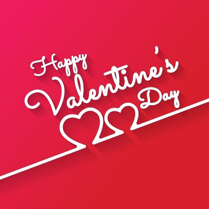 thiệp valentine với chữ nối trái tim cực đẹp