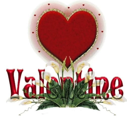 Thiệp valentine đẹp với hoa và trái tim