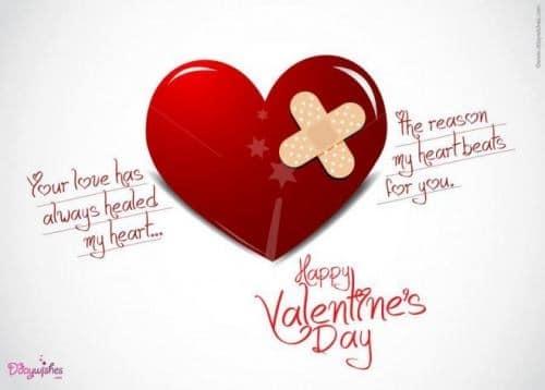 Thiệp valentine với trái tim tổn thương