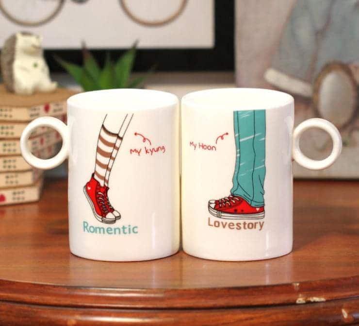 hình ảnh quà cốc đôi thủy tinh dễ thương