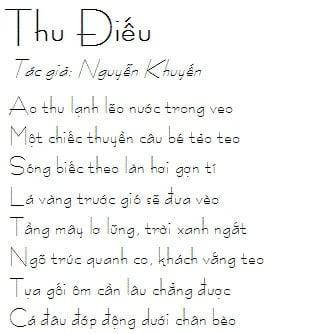 Bài thơ thu điếu
