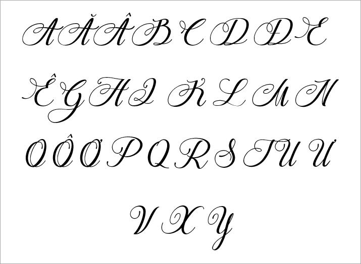 Bảng Chữ Cái Đẹp Sáng Tạo Nghệ Thuật