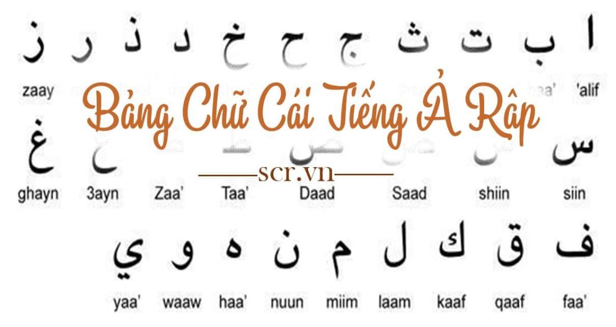 Bảng Chữ Cái Tiếng Ả Rập