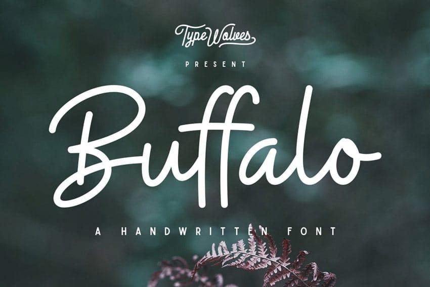 Font Buffalo Handwritten viết tay đẹp