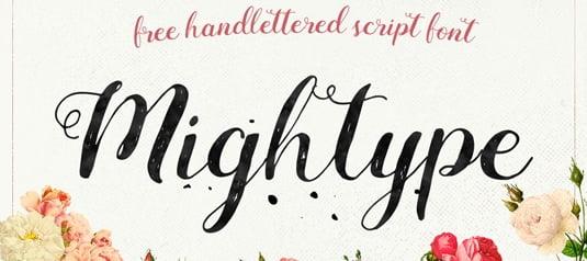 Font Mightype viết tay đẹp