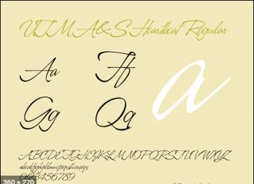 Font UTM A&S Heartbeat viết tay đẹp
