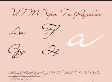 Font UTM Yen Tu viết tay