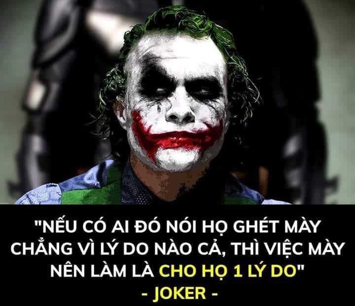 Hình ảnh câu nói chất của Joker