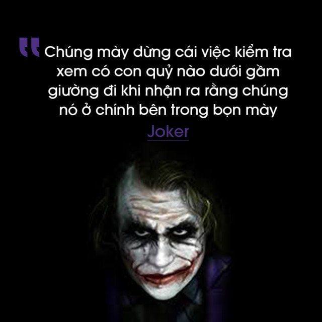 Hình ảnh câu nói của Mr Joker