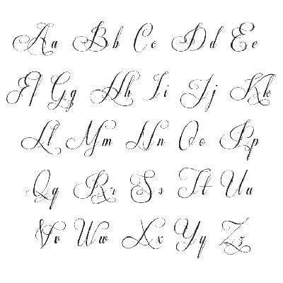 Mẫu Chữ kiểu In hoa và chữu thường đẹp dễ viết