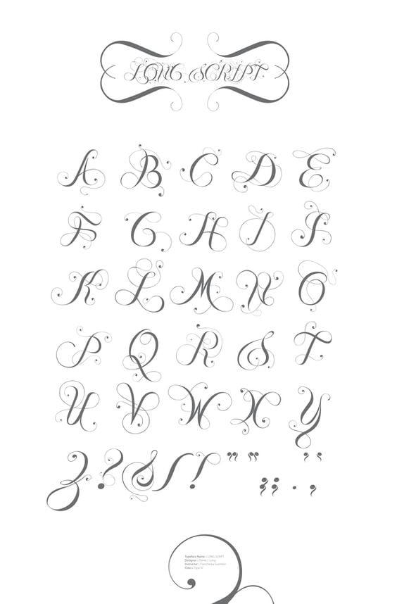 Mẫu chữ kiểu nét chấm móc đầu nét
