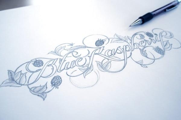 Mẫu vẽ chữ kiểu bằng bút chì đẹp
