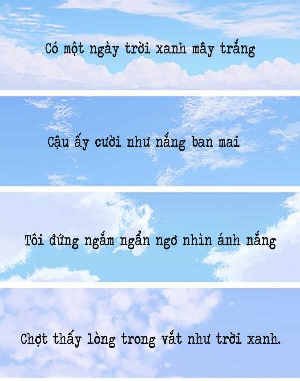 Thơ về trời xanh mây trắng