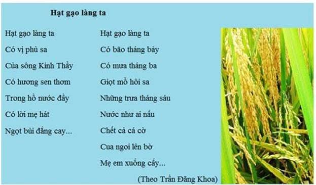 Tranh Bài Thơ Hạt Gạo Làng Ta