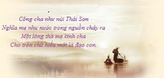 Công Cha Như Núi Thái Sơn Chế