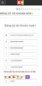 Điền thông tin vào tab