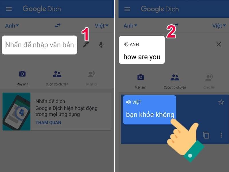 Cách Dùng Google Dịch Tiếng Anh Sang Tiếng Việt