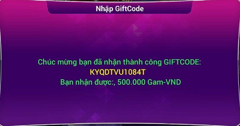 Code Gamvip miễn phí