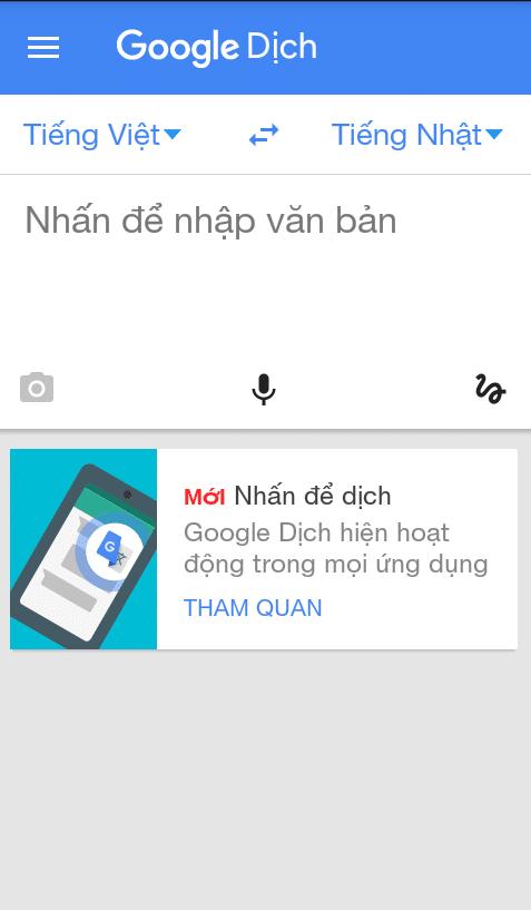 Google Dịch Tiếng Nhật Và Tiếng Việt