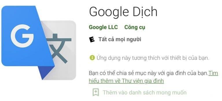 Google Dịch Tiếng Trung Sang Tiếng Việt Trên Android