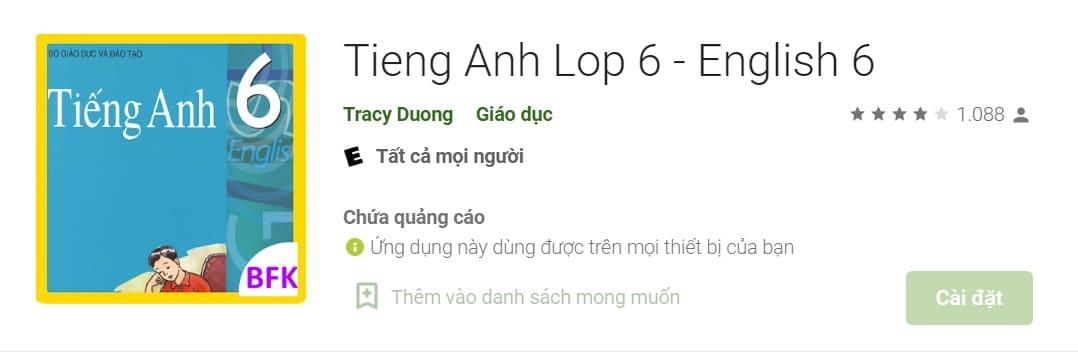 Ứng Dụng Dịch Tiếng Anh Sang Tiếng Việt Lớp 6