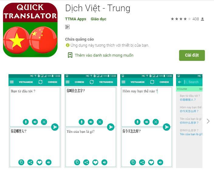 Ứng Dụng Dịch Tiếng Việt Sang Tiếng Trung Bằng Giọng Nói
