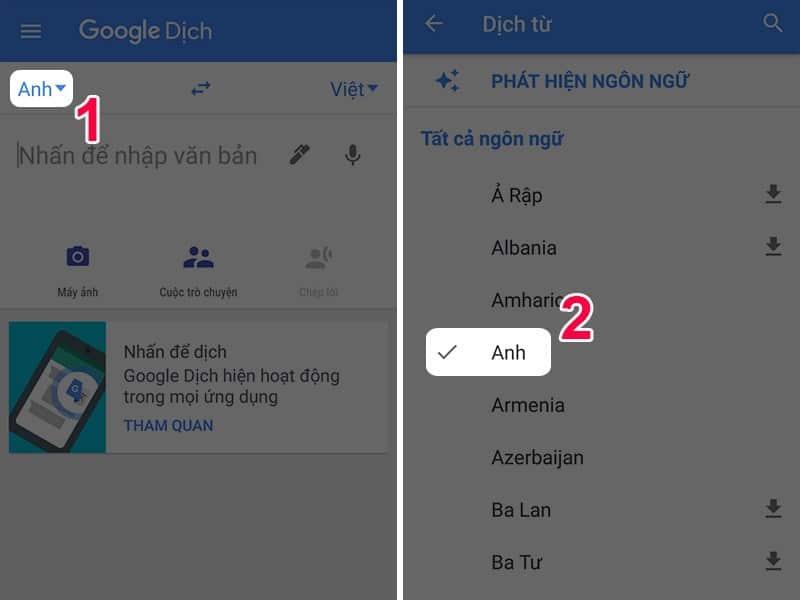 hướng dẫn cách dùng Google Dịch