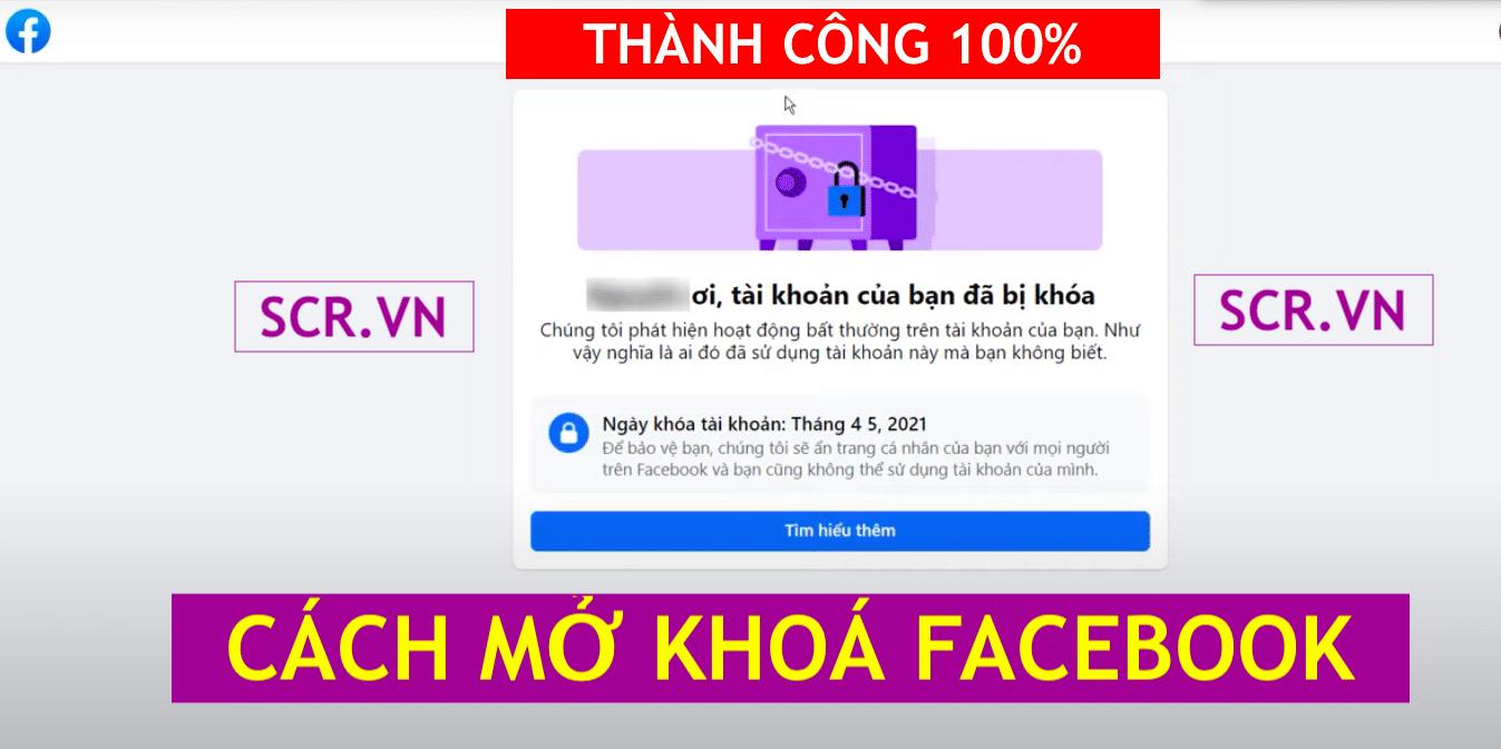 Mở Khoá Tài Khoản Facebook