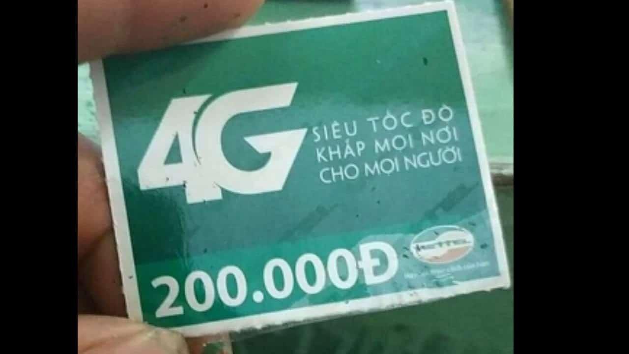 Ảnh thẻ cào Viettel 200k