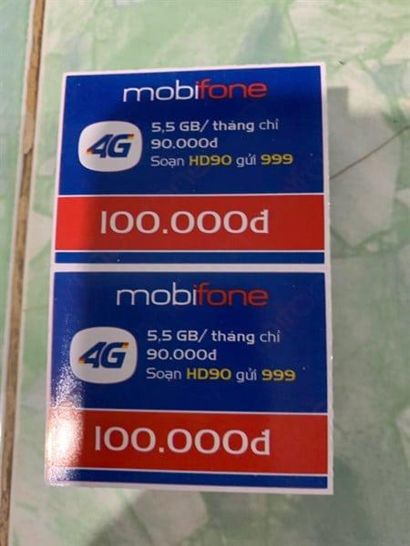 Gửi bạn hình ảnh thẻ cào Mobi 100k