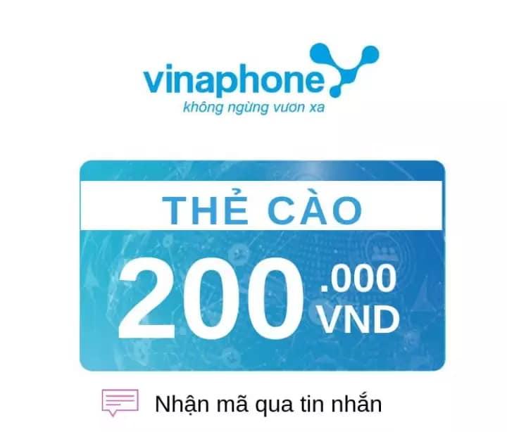 Thẻ cào 200k mạng Vinaphone