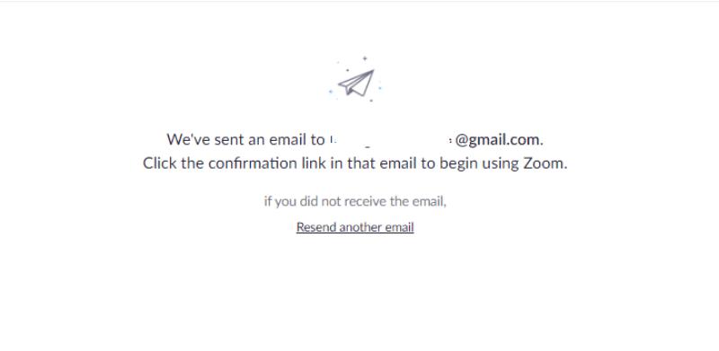 Email xác nhận yêu cầu từ Zoom