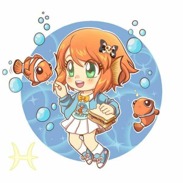 Hình Ảnh Cung Song Ngư Anime Cute